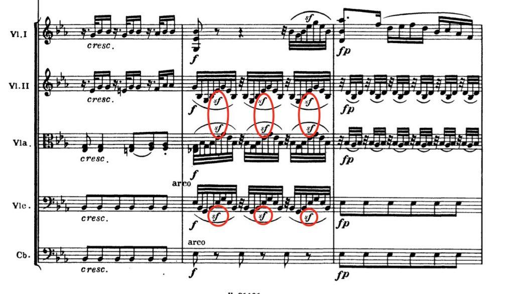 ベートーヴェン:交響曲第4番 第2楽章第16-18小節