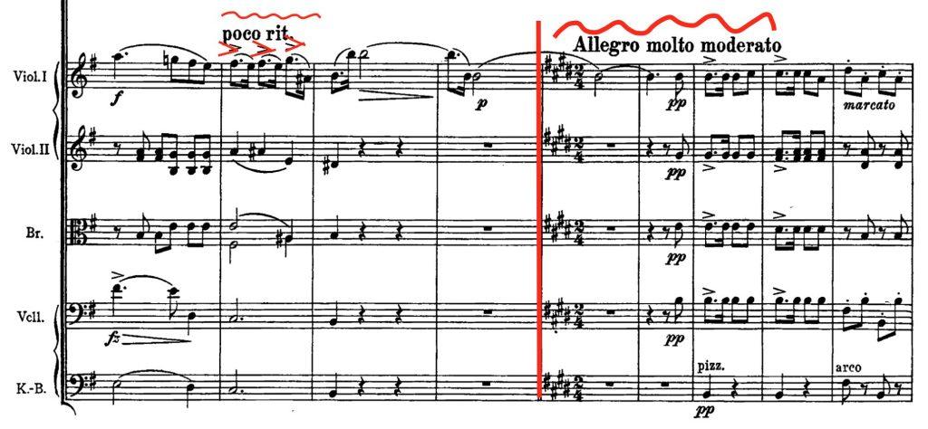 ヨハン・シュトラウス2世:喜歌劇「こうもり」序曲 第223-231小節