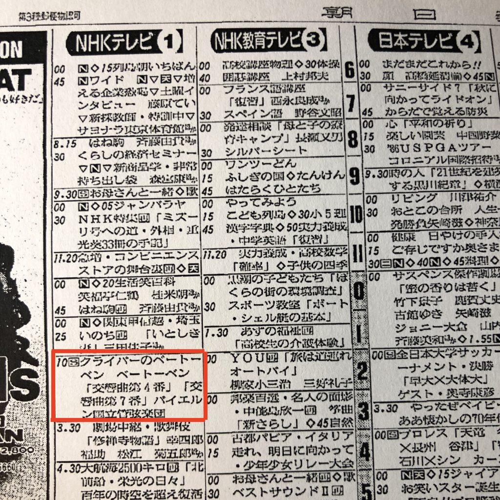朝日新聞 1986年8月30日土曜日 朝刊
