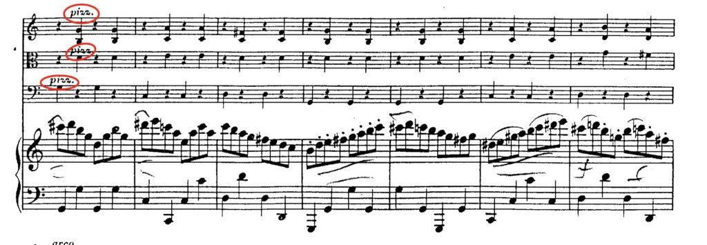 ベートーヴェン:ピアノ四重奏曲WoO36第3番ハ長調 第3楽章 第46小節〜52小節