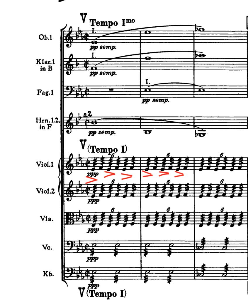 ブルックナー:交響曲第4番変ホ長調(ハース版) 第4楽章477小節〜