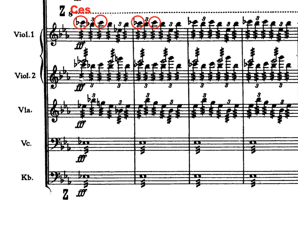 ブルックナー:交響曲第4番変ホ長調(ハース版) 第4楽章533小節〜